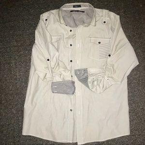 Men's casual button up shirt XL